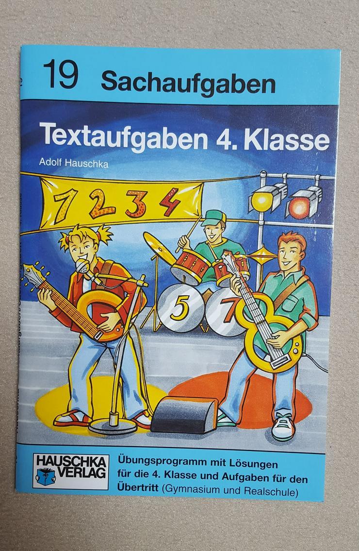 """""""HAUSCHKA VERLAG"""" TEXTAUFGABEN 4. KLASSE, Übungsprogramm mit Lösungen f. den Übertritt Gymnasium & Realschule"""