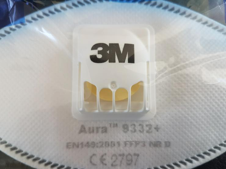 10x Atemschutzmaske 3M AURA 9332+ - Hygiene & Desinfektion - Bild 1
