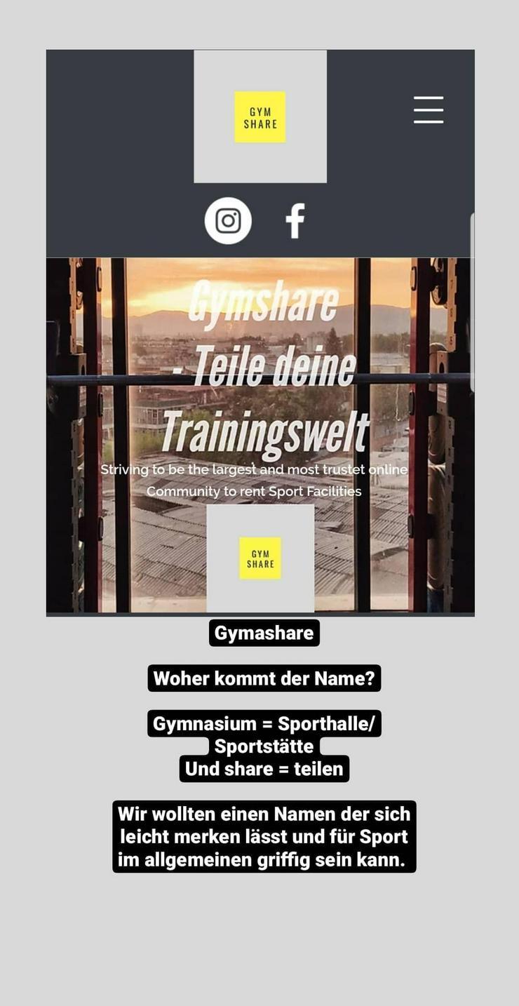 Gymshare - Teile deine Trainingswelt und Equipment