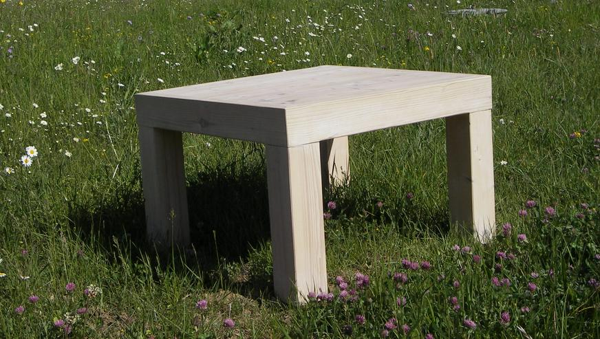 Massivholz 2 x Beistelltisch / Kindertisch 70 x 70 x 50