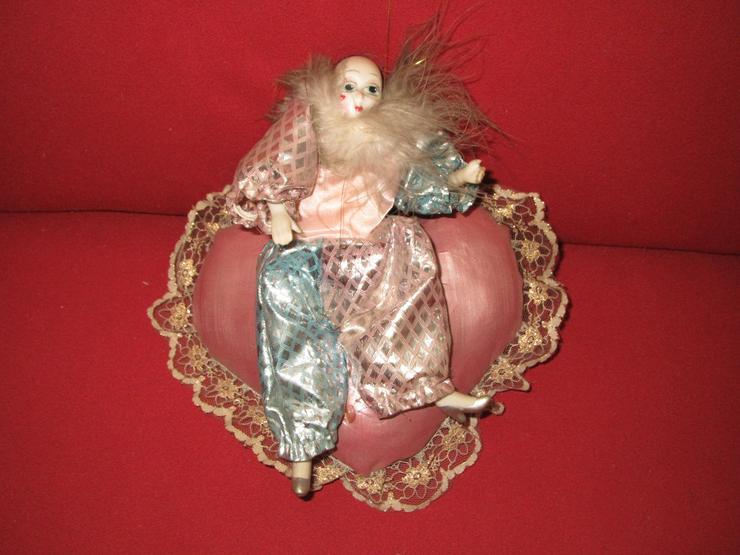 4 Porzellan Harlekin-Puppen