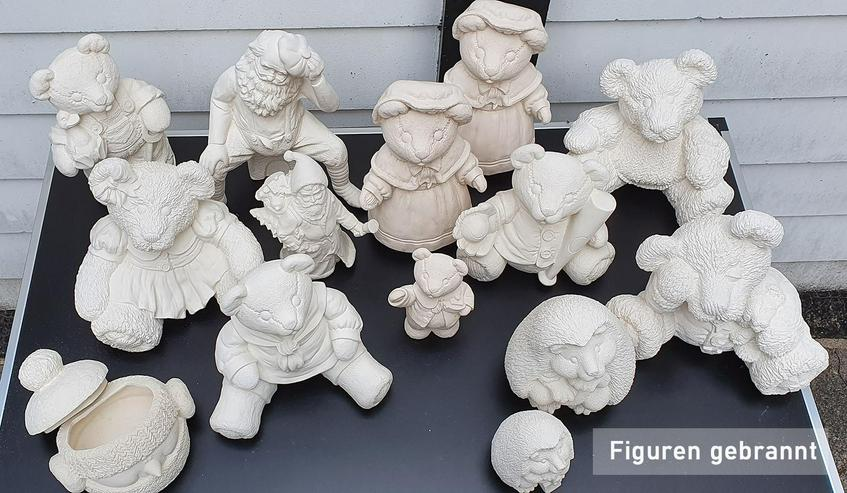 Keramik, Figuren aus Gießton, gebrannt und ungebrannt - Figuren - Bild 1