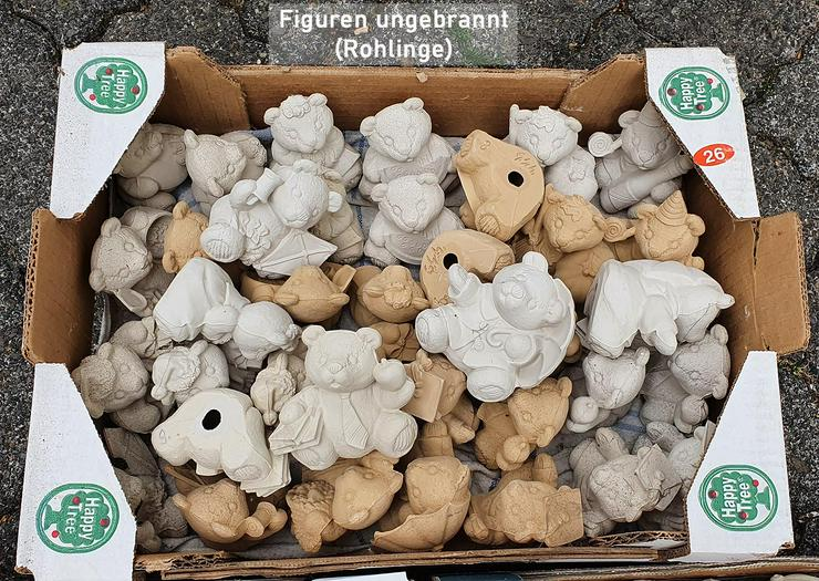 Bild 2: Keramik, Figuren aus Gießton, gebrannt und ungebrannt