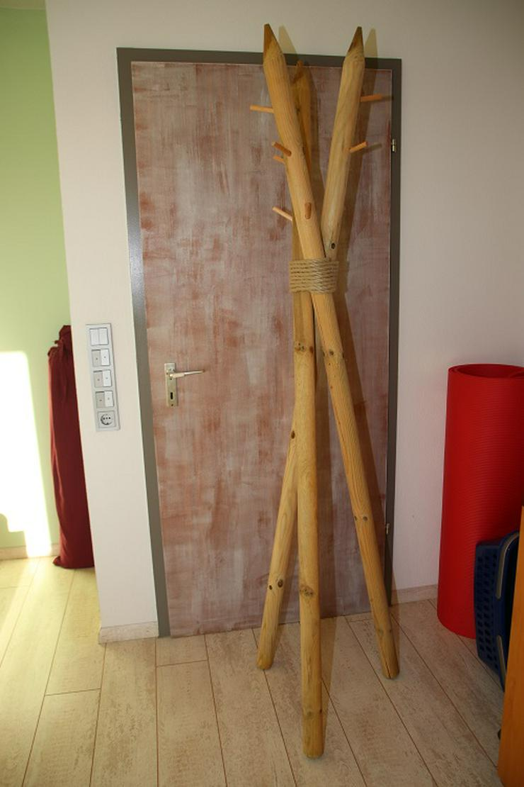 """Kleiderständer """"Allgäu"""" aus Holz, 197cm hoch, Unikat"""