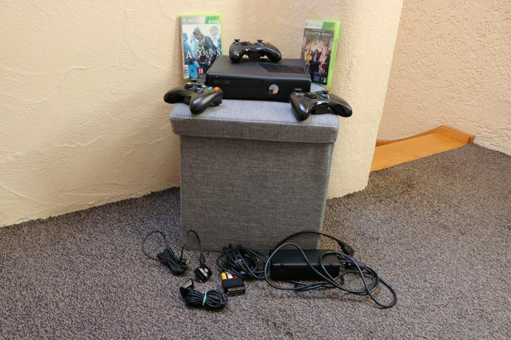 Xbox 360 S m.Zubehör, mattschw.,Top-Zustand