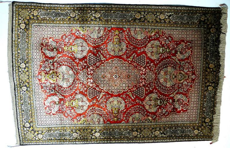 Orientteppich Ghom Seide alt superfein Top (T034)