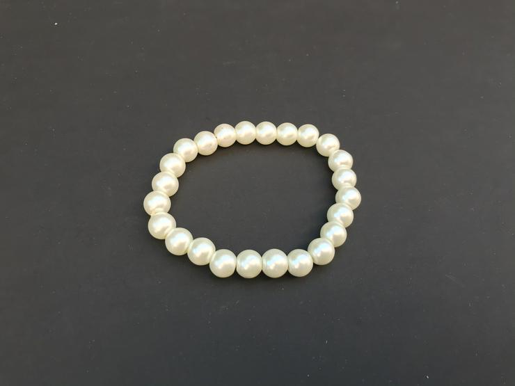 Bild 2: Perlenarmband weiß (auch zu verschicken )