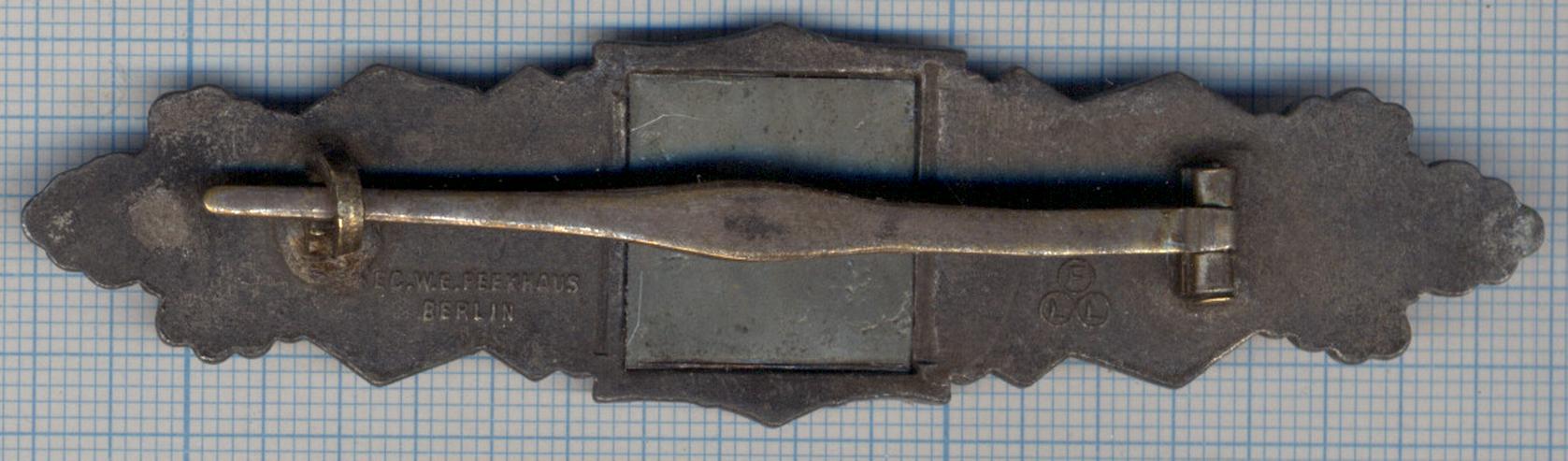 Bild 4: Nahkampfspange im Bronze aus Wk2, Friedrich Linden Lüdenscheid