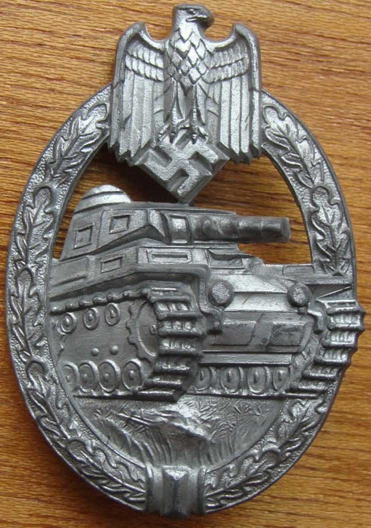 """Panzerkapf Abzeichen aus Wk2, """"DH""""(Hermann Aurich, Blumenstrase 49, Dresden) - Weitere - Bild 1"""