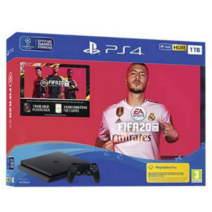NEU PS4 Konsole 1 TB Schwarz inkl. 2 Wireless Controller + FIFA