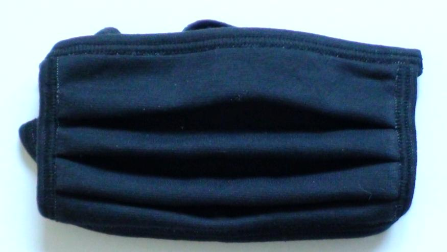 Mund - Nasen - Maske schwarz / blau