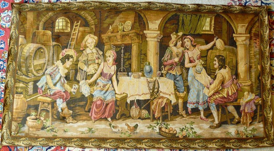 Gobelin Bildteppich Weinkeller alt 148x83 (G055)