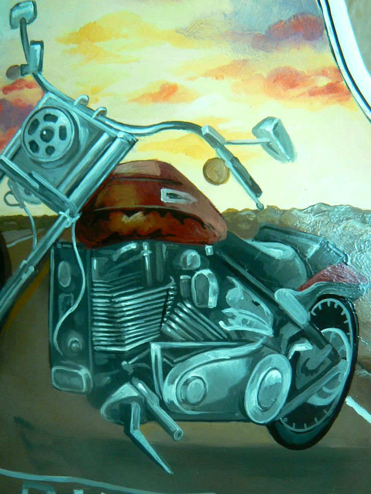2 Traum-Gemälde Harley Davidson auf einer echten Geige - Harley Davidson - Bild 3