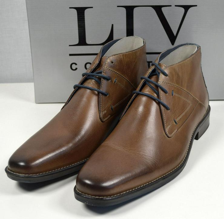 LIV Collection Herren Leder Stiefel Gr.44 Herren Schuhe 31121605