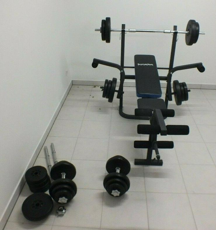 HANTELBANK Maschine Oberschenkel Training Fitness Geräte Komplett KINETIC Sport