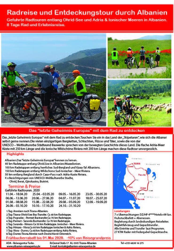 8 Tage Radreise und Entdeckungstour durch Albanien.