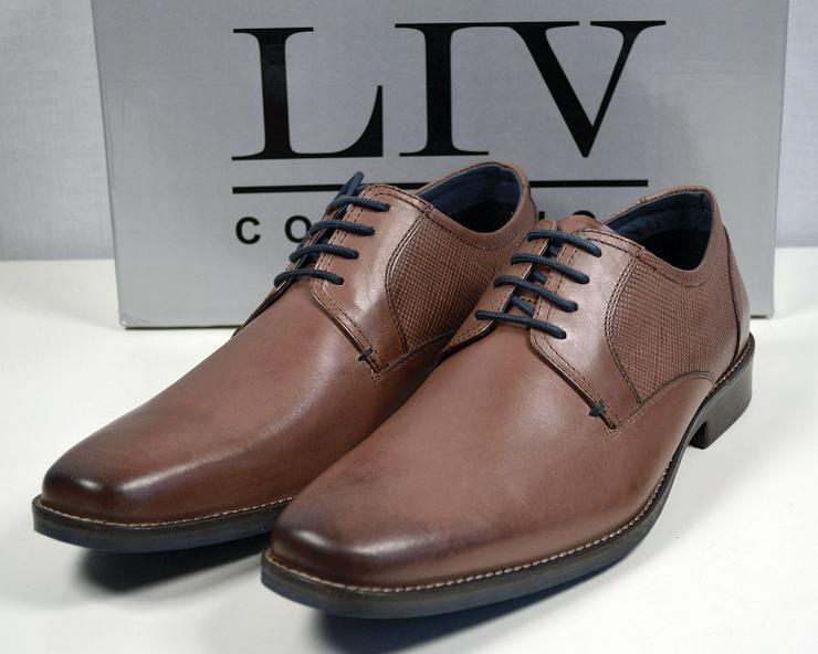 LIV Collection Herren Leder Stiefel Gr.45 Herren Schuhe 31121606