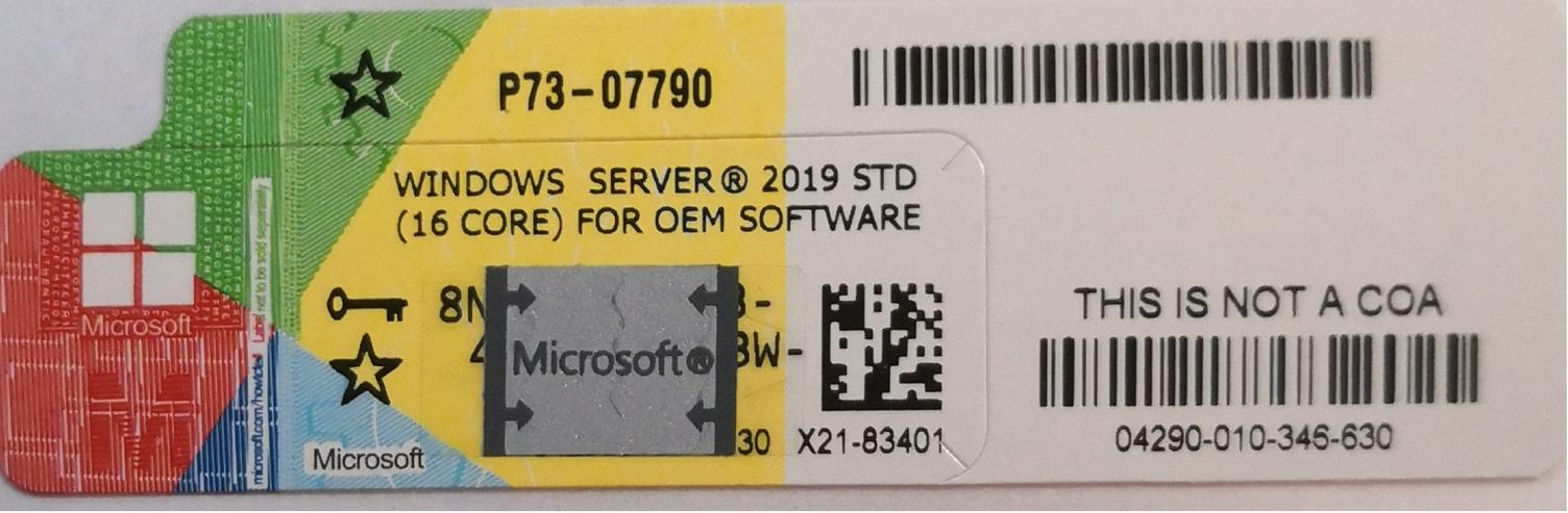 10 x windows Server 2019 Standard Sticker