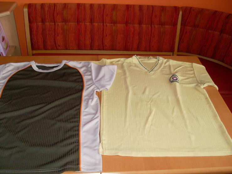 2 Stück Herren T- Shirts grün + gelb Gr. L/XL