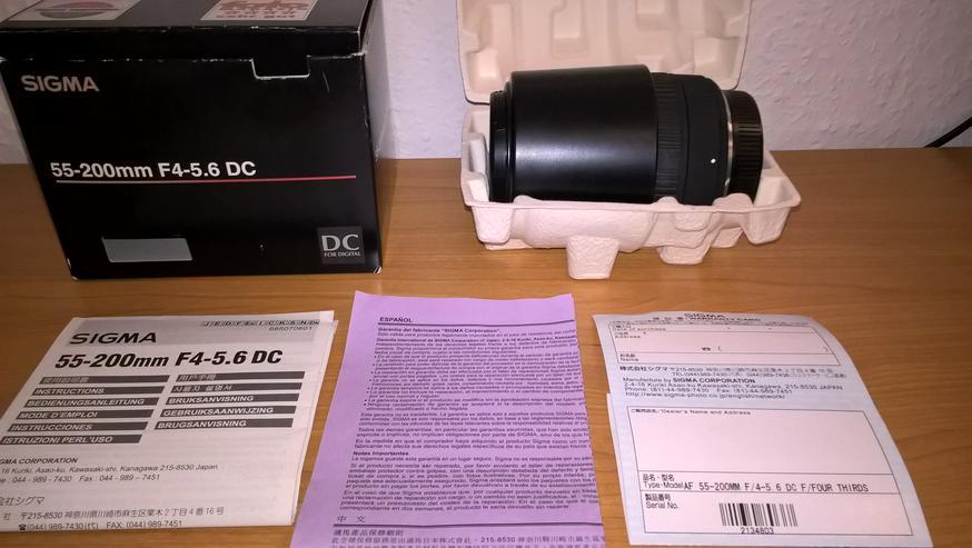 Sigma DC 55-200mm Zoom - / Teleobjektiv Four Thirds für Digitalkamera Olympus