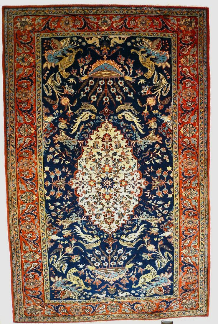 Orientteppich Teheran Wolle/Seide antik TOP (T085)