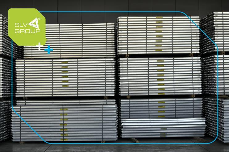 Bild 4: Neues Gerüst 1000m2 typ. Baumann SLV-73 Stahl Fassadengerüst Scaffolding