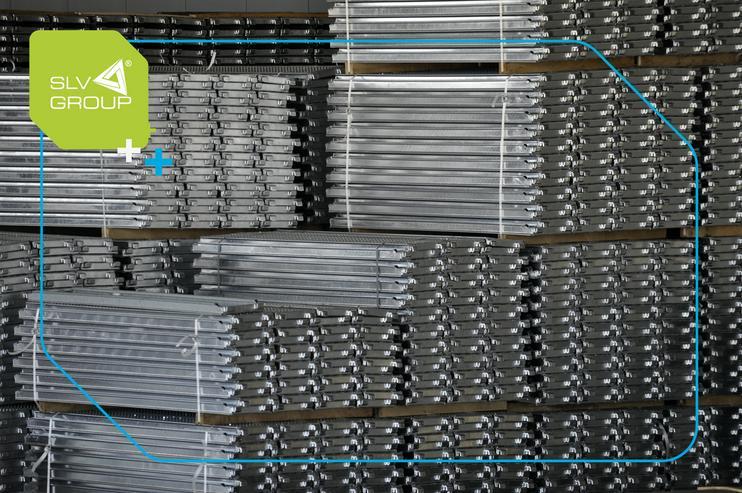 Bild 2: Neues Gerüst 1000m2 typ. Baumann SLV-73 Stahl Fassadengerüst Scaffolding