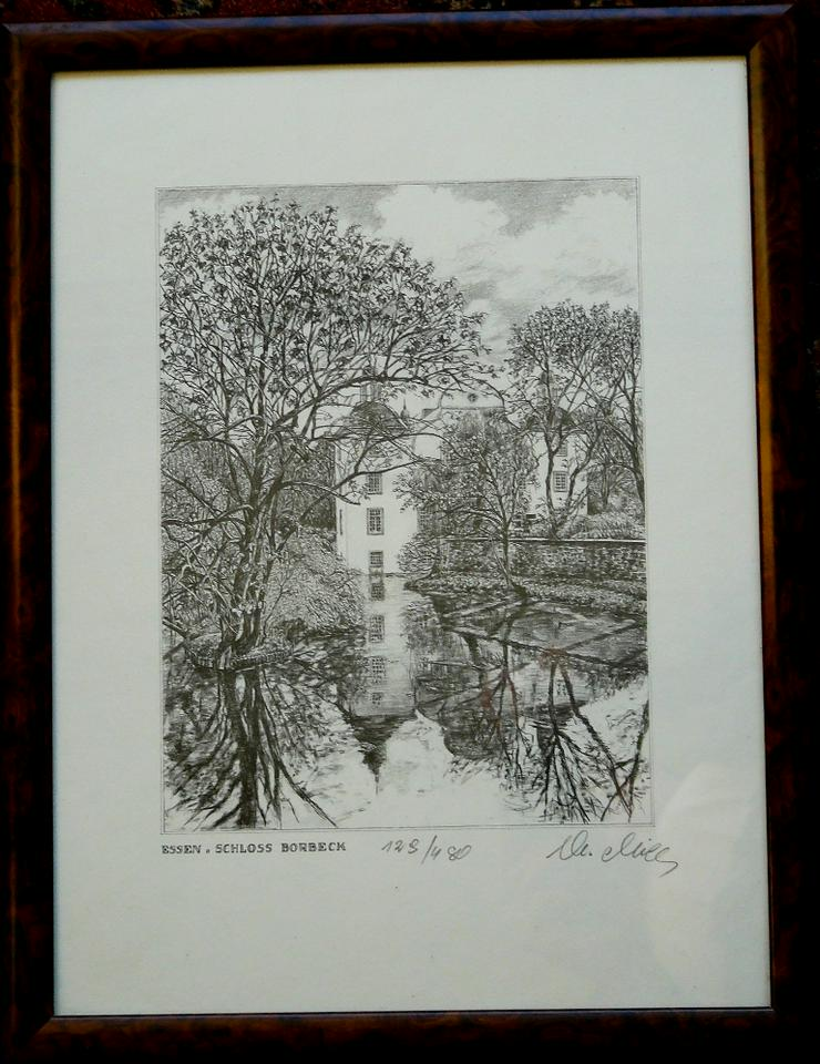 Schloss Borbeck feine alte Grafik (B075)