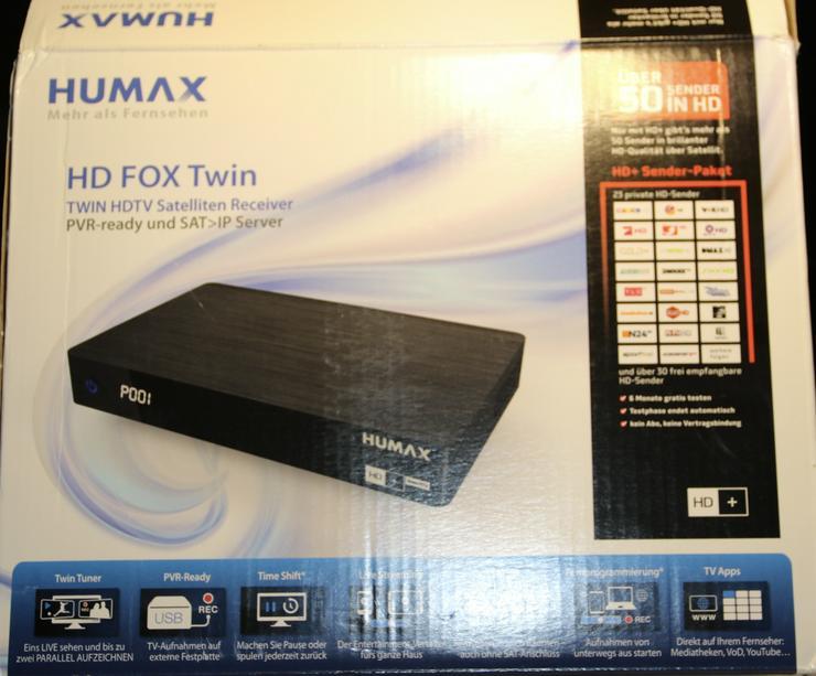 Humax HD Fox Twin Tuner Sat Receiver PVR ready und Samsung TV U32J4000 AWXZG
