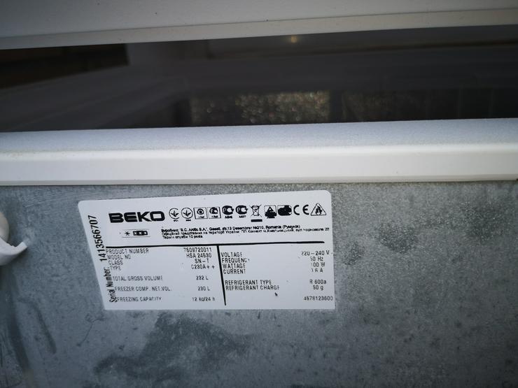 BEKO HSA 24530 Gefriertruhe - 110 cm - 230 L - Weiß