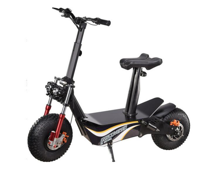 """Elektro Scooter mit Straßenzulassung """"Discoverer"""" bis zu 45 km/h schnell - 48V   2000W Brushless   12AH Akku"""