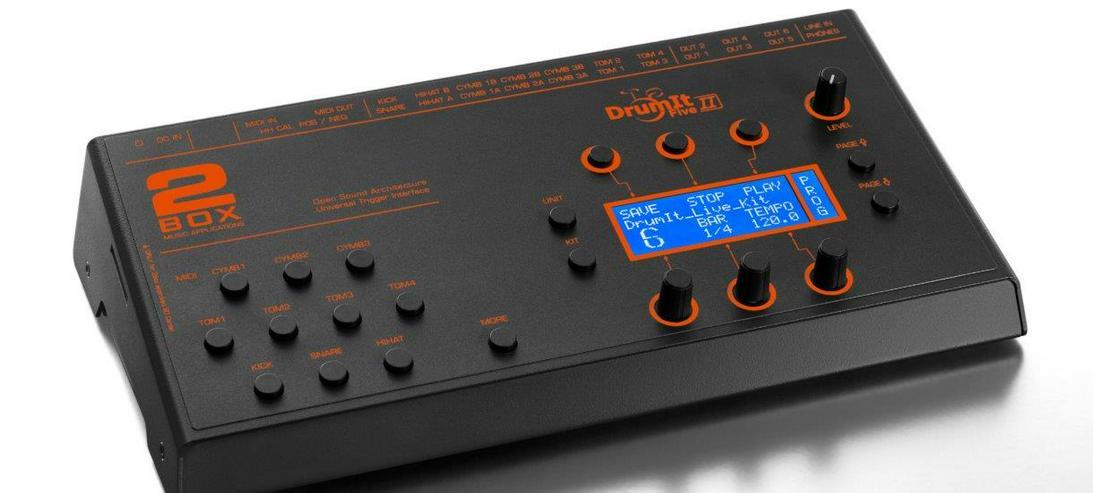 2Box drumIt Five MK II / 4 Giga / Tdrum Triggerset 3/1/1 / T'head 12/13/14/16/22 / PD / Kabel