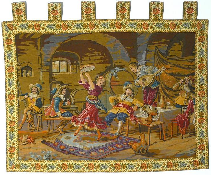 Gobelin Fest im Weinkeller 96x80 (G032)