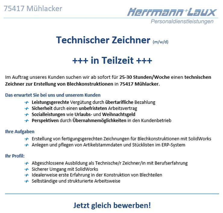 Technischer Zeichner (m/w/d) +++ in Teilzeit +++