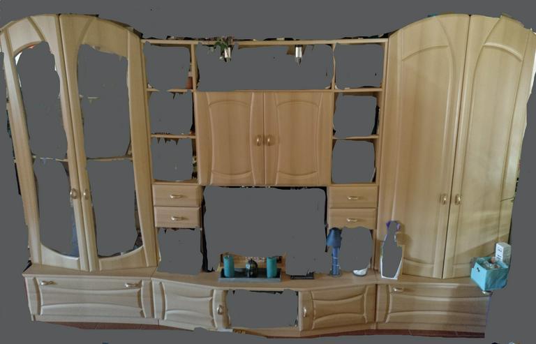 Schöne Wohnwand in Buche guter Zustand m leichten Gebrauchsspuren