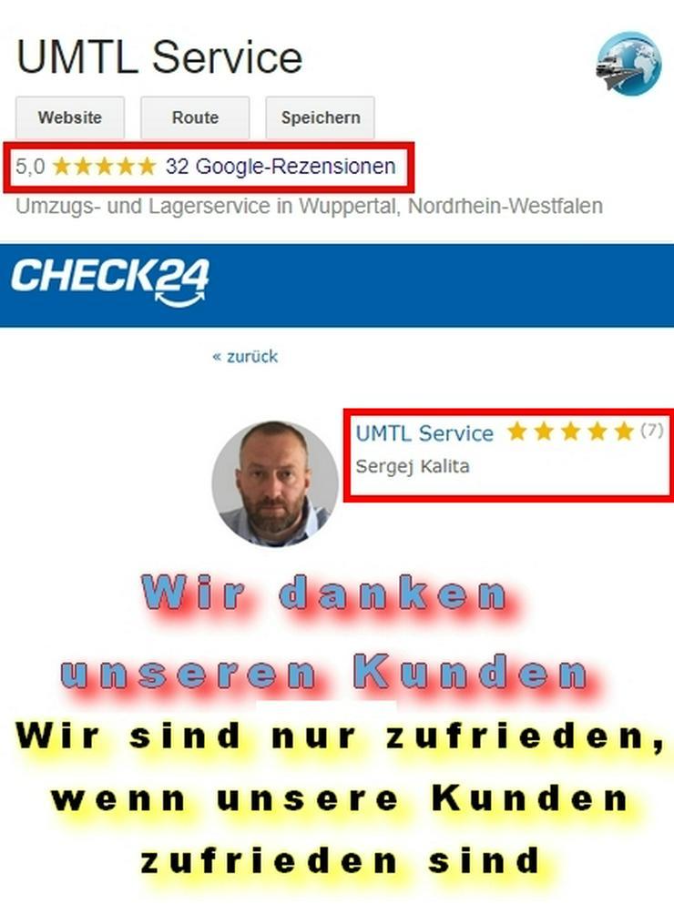 UMTL Service Nicht ohne Grund Umzüge Haushaltsauflösungen Transporte geschäftlich wie privat Wuppertal Remscheid Schwelm Hagen Gevelsberg Mettmann