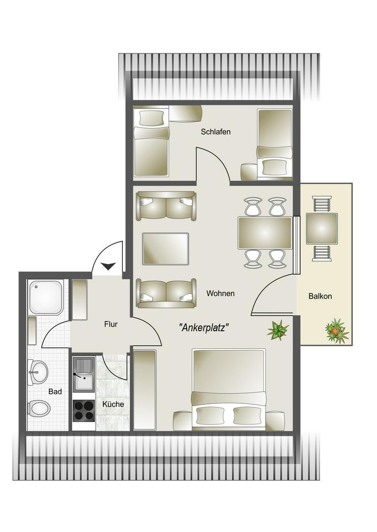 Bild 6: 2-Raum Ferienwohnung in Büsum