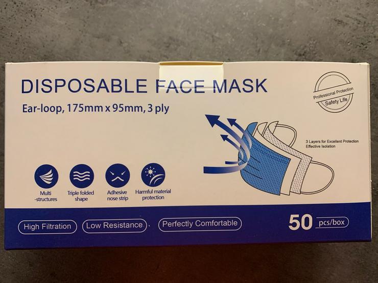 Hygienemasken / Schutzmasken (Mundschutz) CE+FDA zertifiziert; Neu + OVP