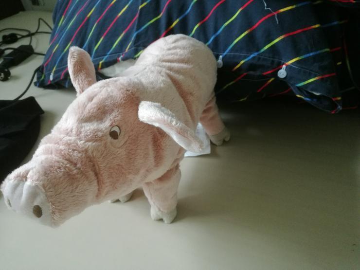 IKEA KNORRIG Stofftier Schwein Ferkel Kuscheltier rosa 37cm