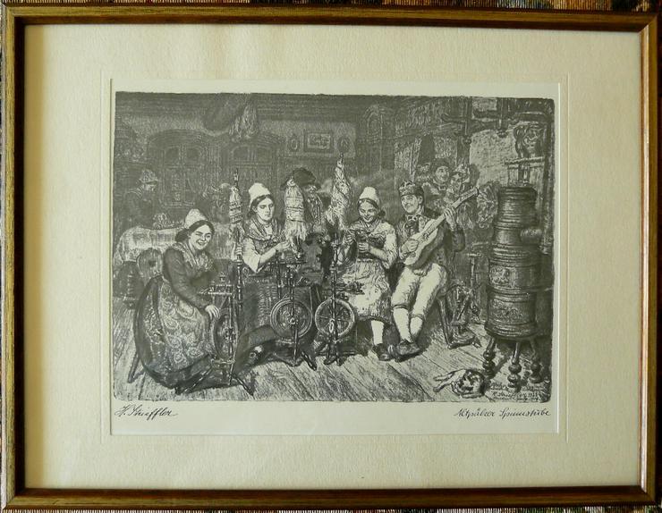 Altpälzer Spinnstube Strieffler Heinrich Grafik (B088) - Poster, Drucke & Fotos - Bild 1