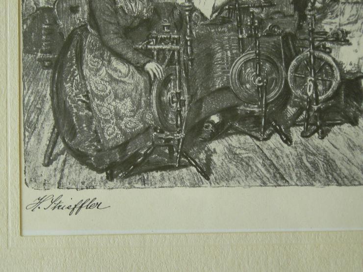 Bild 2: Altpälzer Spinnstube Strieffler Heinrich Grafik (B088)