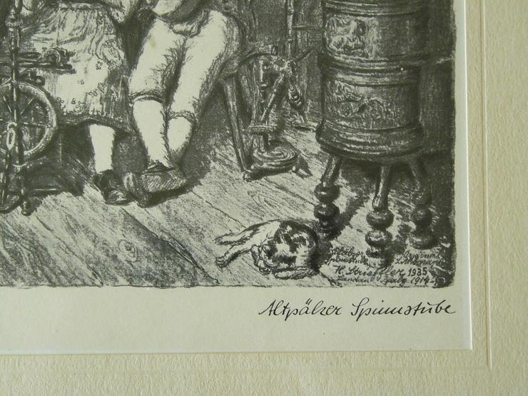 Bild 3: Altpälzer Spinnstube Strieffler Heinrich Grafik (B088)