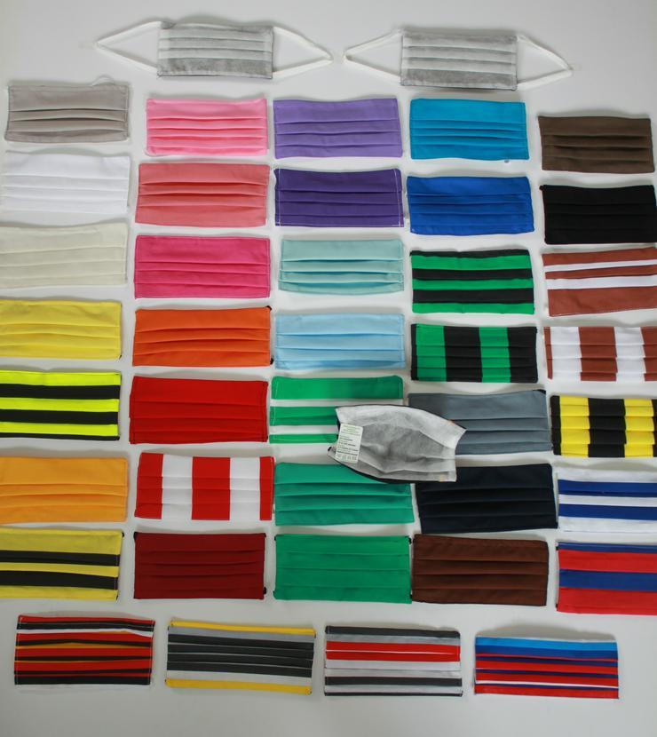 100 Stück Textil Design Masken nur 1,98€ / Stück !!! Maske waschbar