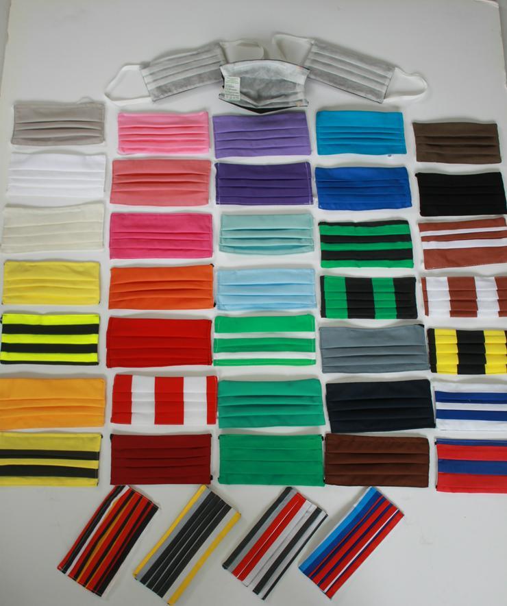 Bild 2: 100 Stück Textil Design Masken nur 1,98€ / Stück !!! Maske waschbar