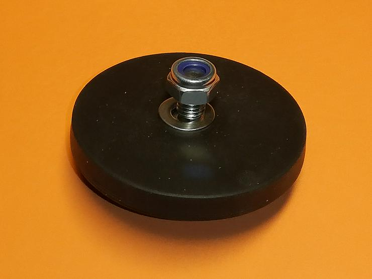 Super Magnet, Neodym mit Gummimantel, je 25 kg Haftkraft
