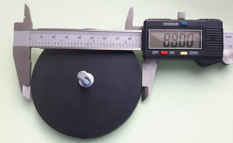 Super Magnet, Neodym mit Gummimantel, ca. 50 kg Haftkraft