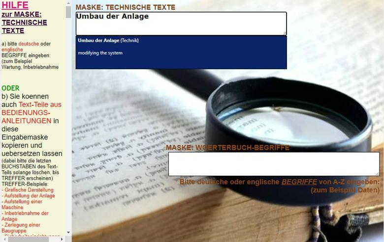 deutsches Betriebshandbuch ins Englische uebersetzen (Text, Saetze) - Wörterbücher - Bild 1