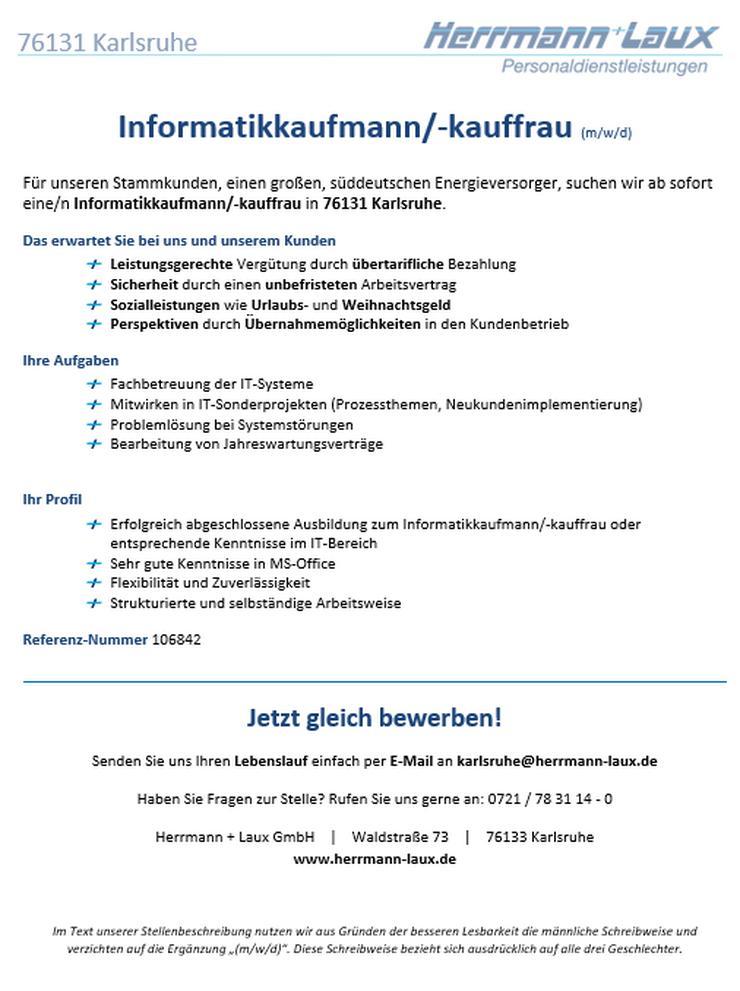 Informatikkaufmann/-kauffrau (m/w/d)