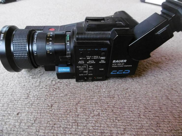 Bauer/Bosch Videokamera VCE 366AF, VHS Recorder VRP 30, Zubehör