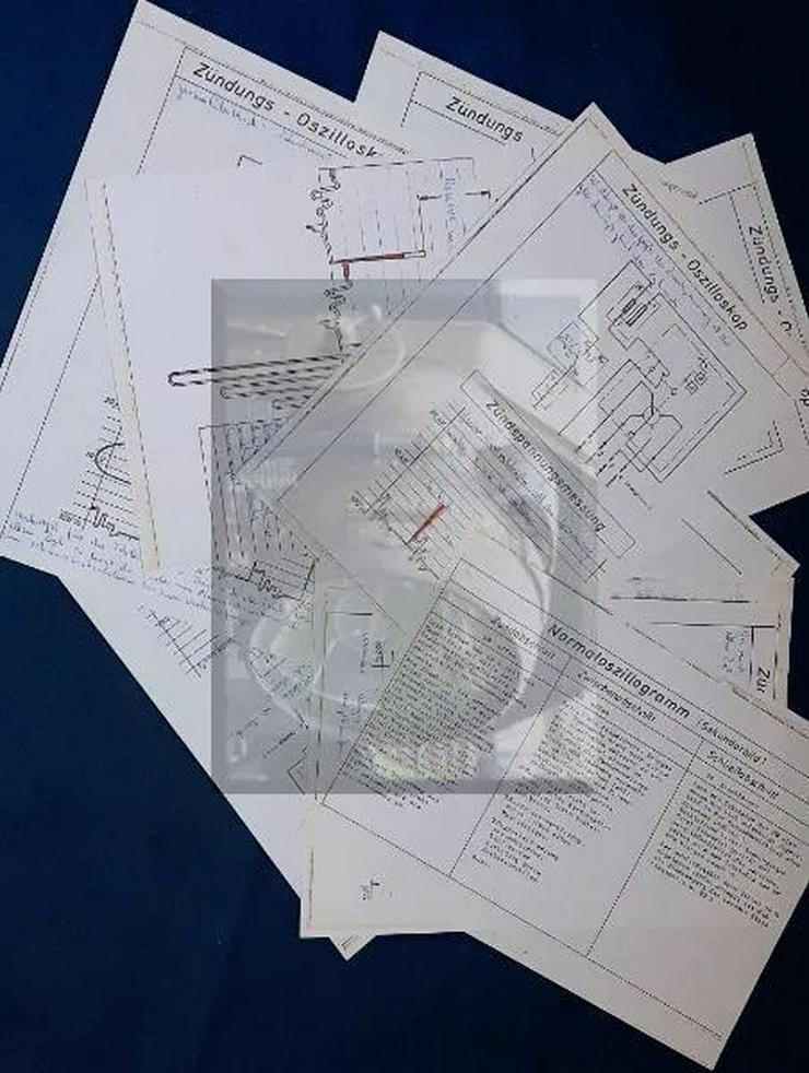 10 x Schulungsblätter f. Oszillogramm an SUN Motortester 60er Jahre